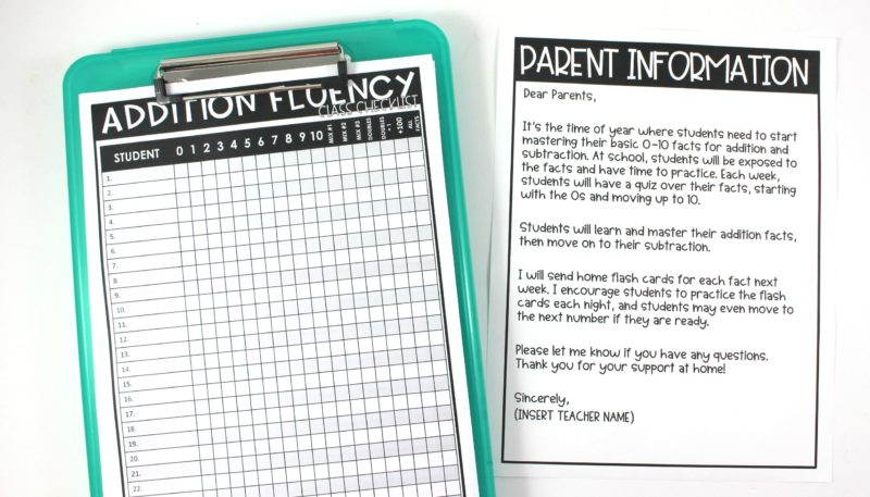 graphic about Fluency Chart Printable named Math Real truth Fluency - Tunstalls Schooling Tidbits