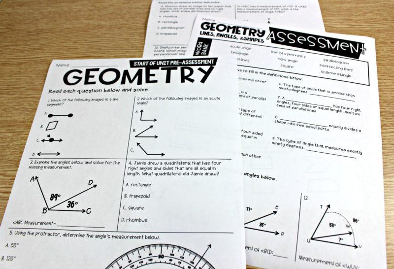4th Grade Guided Math Geometry Tunstall S Teaching Tidbits