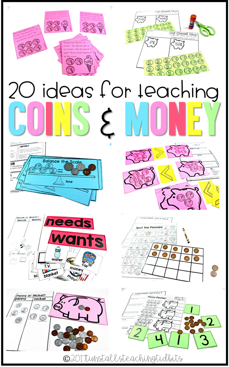 20 ideas for teaching coins tunstalls teaching tidbits 20 lesson ideas for teaching coins buycottarizona Images