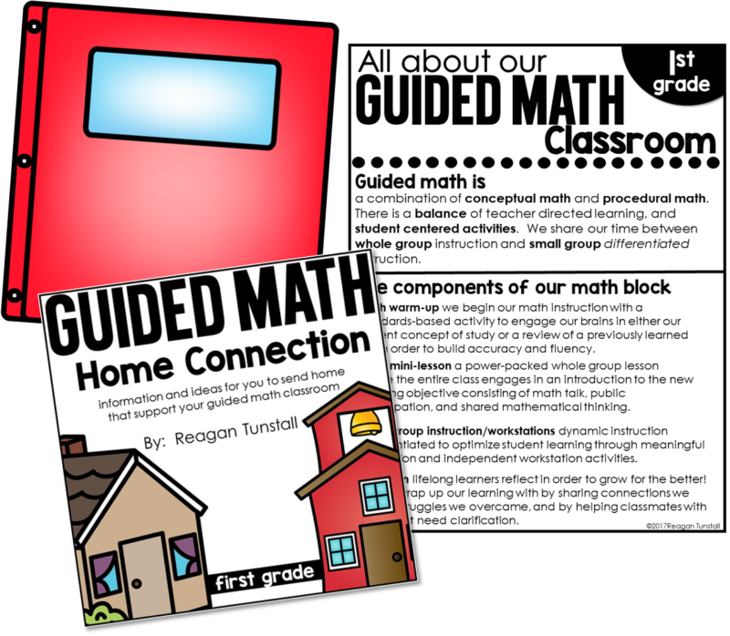 """Home connections: Designed to connect work students do during math block with families at home. An alternative to homework but allows students to practice skills with minimal help and little written work. Created for no homework policy schools, schools whose students don't do homework, or for teachers to give to help parents help their child. For grades kindergarten, first grade, and second grade. Read """"The Great Homework Debate"""" www.tunstallsteachingtidbits.com"""
