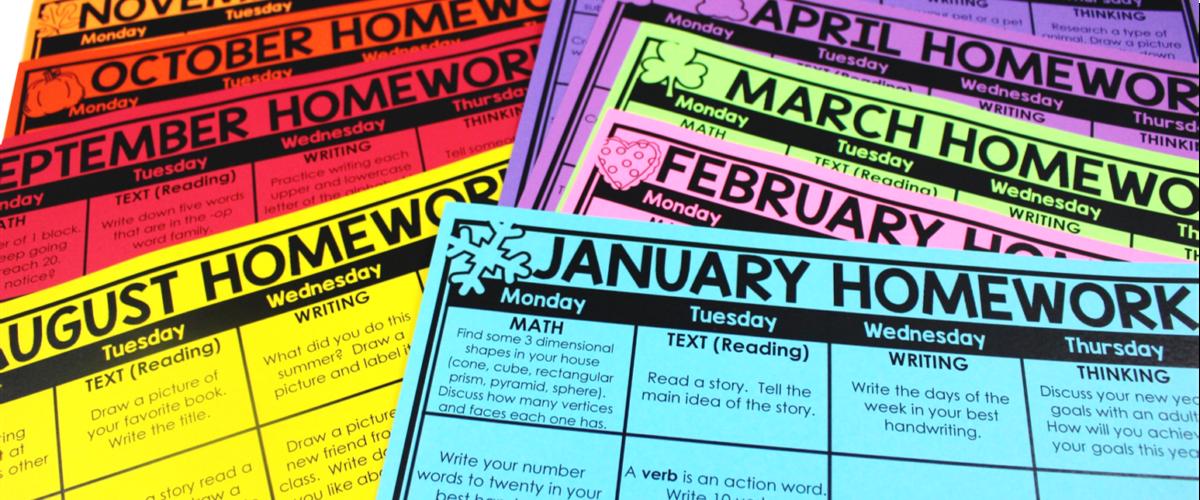 Sending Homework Calendars to Students