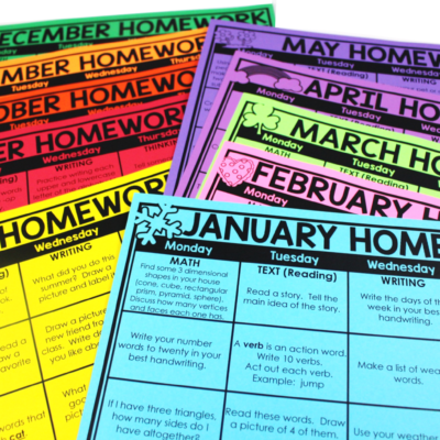 Sending Homework Calendars to Students