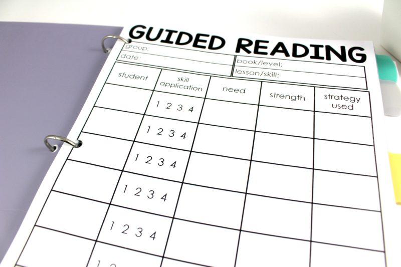 Guided Reading Teacher Binder Tunstall S Teaching Tidbits