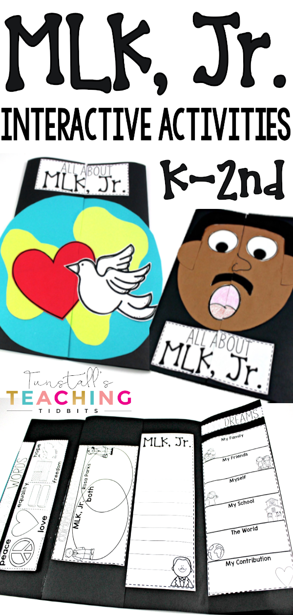 MLK Jr. activities in a keepsake craft book. Martin Luther King Jr interactive printables and craft activities. Combine your favorite read alouds and videos about Martin Luther King Jr to create meaningful lessons with your class.