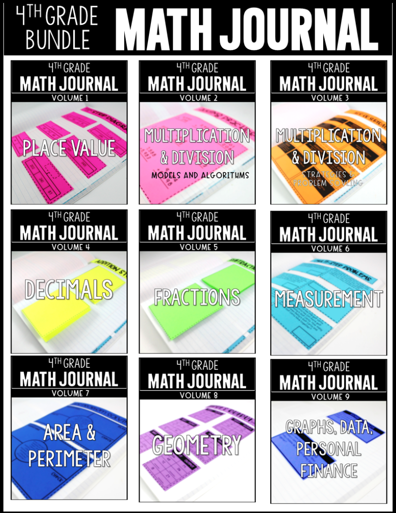 Label obsessed free tunstalls teaching tidbits 4th grade math journals fandeluxe