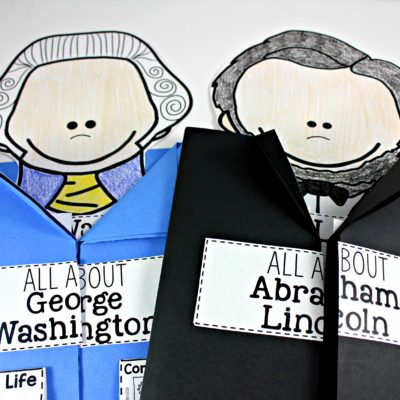 Presidents George Washington and Abraham Lincoln