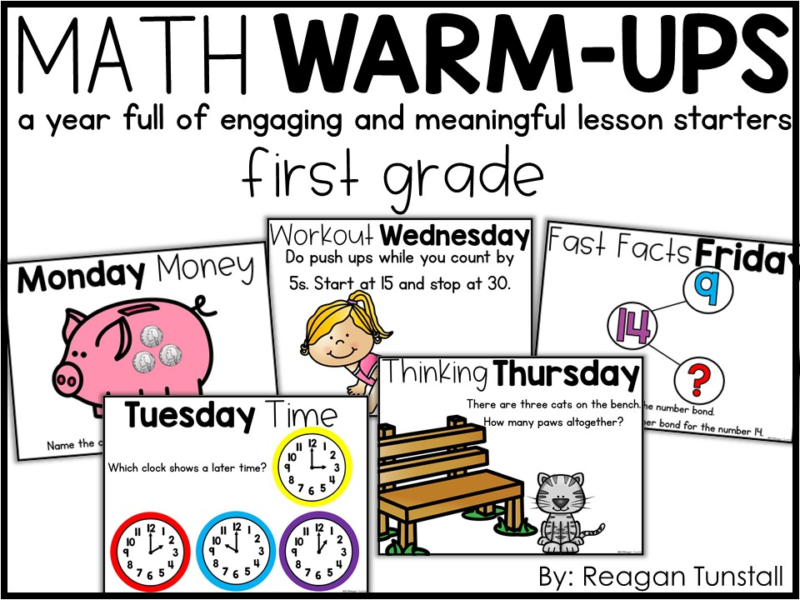 Let's Discuss Math Warm-Ups - Tunstall's Teaching Tidbits