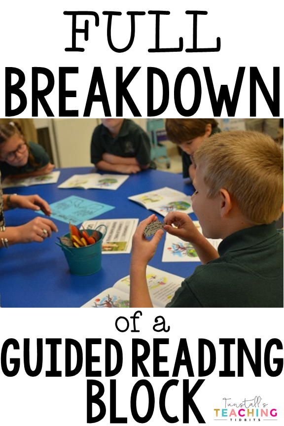 "A full breakdown of a guided reading block! A how to about conducting a guided reading lesson. Lesson ideas, reading lessons, literacy centers, literacy stations, word work activities, writing station ideas, ELA activities, listening station, phonics ideas, spelling activities, word study, and taking notes during guided reading small groups are all included! Great for Kinder, first grade, and second grade. To learn more about ""Let's Celebrate Reading"", visit www.tunstallsteachingtidbits.com"