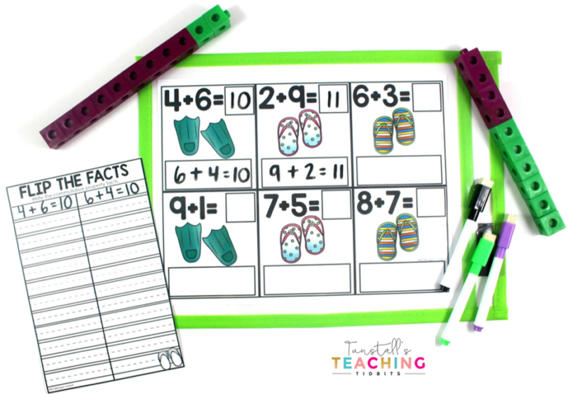 First grade Write & Wipe Centers are designed to slip into a sheet protector/wipe off pouch for NO PREP workstations! Available in color and black & white. Students simply grab pocket sleeve, a few manipulatives, & a dry erase pen for interactive, hands-on math station. Recording sheet booklet included for accountability. Topics: number sense, addition, subtraction, place value, geometry, money, telling time, graphs & data, measurement. www.tunstallsteachingtidbits.com