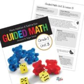 Guided Math Resources for kindergarten, first grade, second grade, third grade, and fourth grade. Take the confusion out of planning the perfect guided math schedule. Read about the components of guided math and which resources to use for each component.