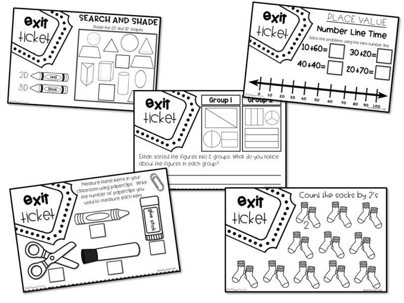 photograph regarding Exit Tickets Printable referred to as Totally free Printable Math Coach Internet pages - Tunstalls Education Tidbits