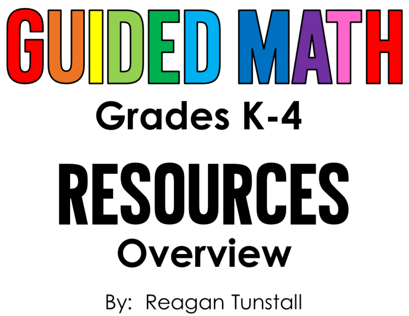 "Guided Math Resources for kindergarten, first grade, second grade, third grade, and fourth grade. Take the confusion out of planning the perfect guided math schedule. Read about the components of guided math and which resources to use for each component. To learn more about ""Guided Math Resources"", visit www.tunstallsteachingtidbits.com"