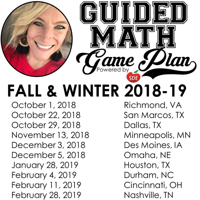 Guided Math Game Plan Conference - Tunstall's Teaching Tidbits
