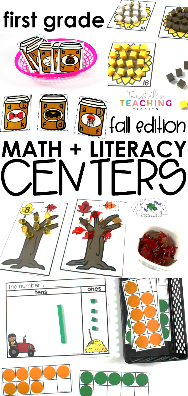 Fall math and literacy workstations help students apply skills and have fun! Seasonal stations that are standards aligned to a variety of levels makes it easy to differentiate for student needs. Phonics, grammar, math, addition, number sense, related numbers, sight words, and more!