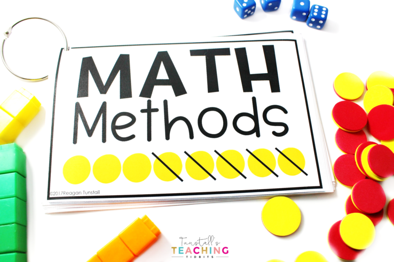 Teaching students to use math strategies made easy. Ideas and visuals for kindergarten, first grade, and second grade. Strategies cards, math warm-ups, word problems, math tools all work together to help make using strategies easy for students.