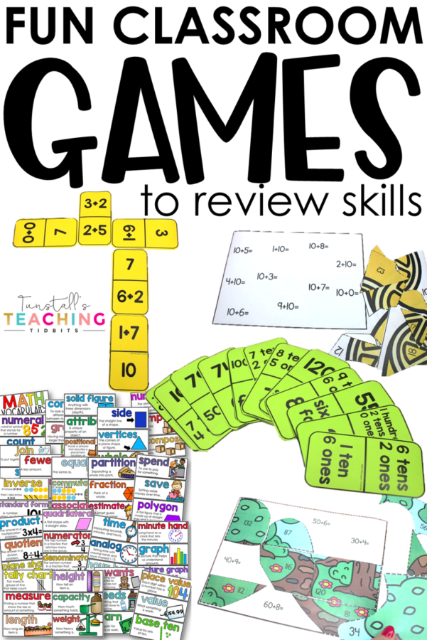 5 Fun Classroom Games to Review Skills for end of the year or assessments.