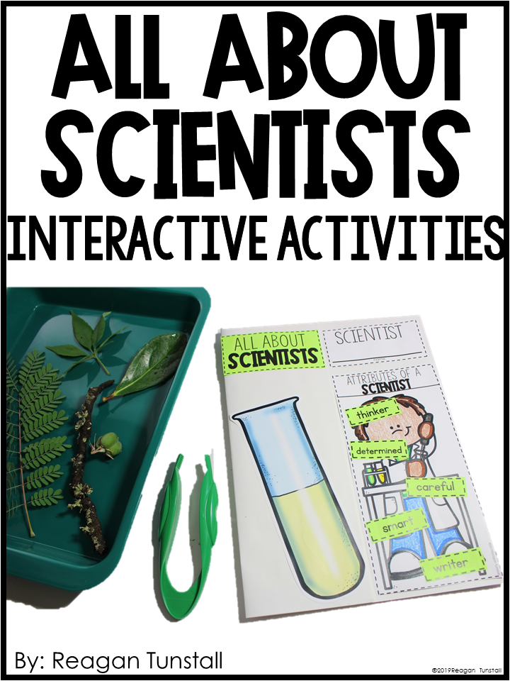All about scientists interactive activities free for Kinder, first, and second grade