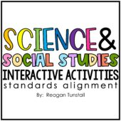 Science and social studies themes with standards alignment. Interactive activities to teach science and social studies standards for kindergarten, first grade, and second grade.