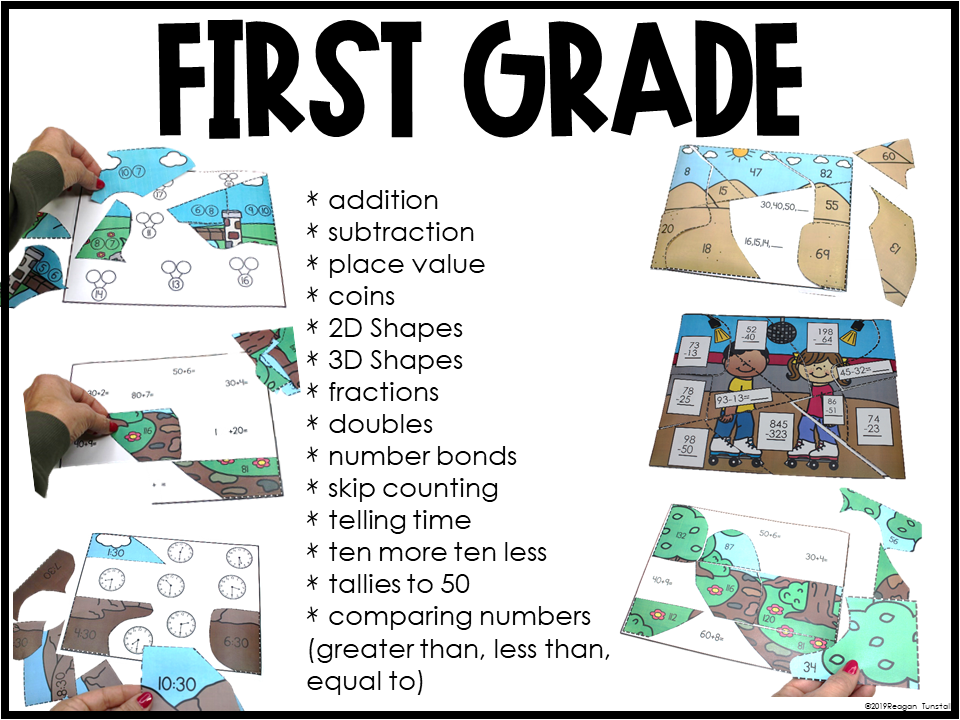 math puzzles for first grade math workstations