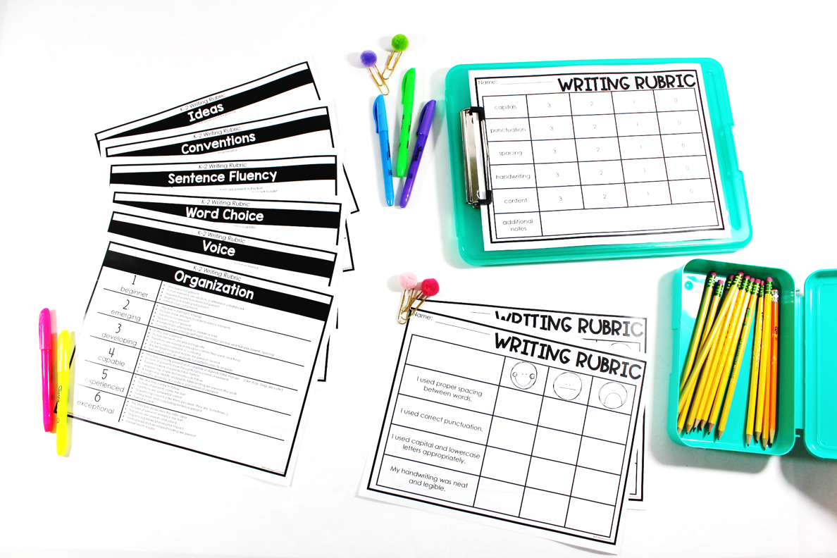 writing station rubrics