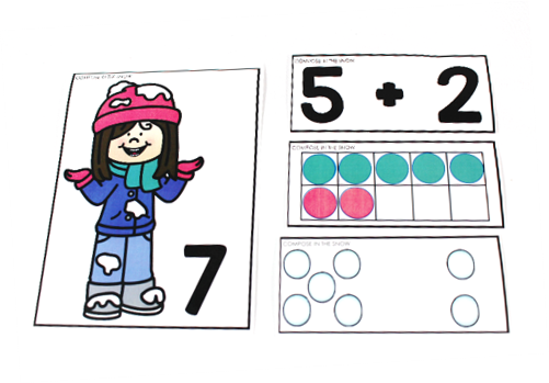 winter math and literacy kindergarten