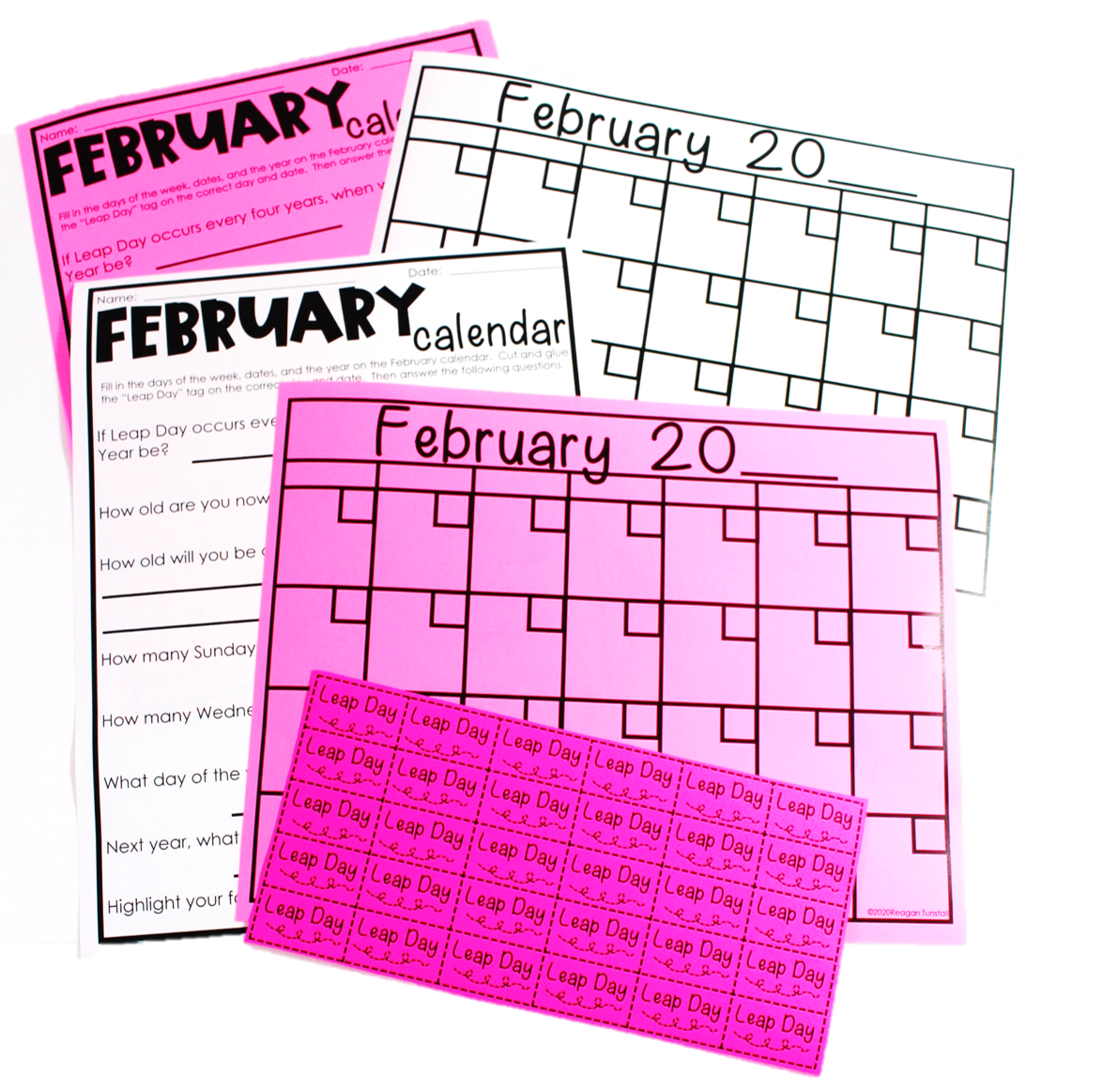. Students create and remember the great month of February with their very own calendar template and as the final touch, they can add the leap day tag. There's also a follow up question sheet about calendar skills involving their created calendar too!
