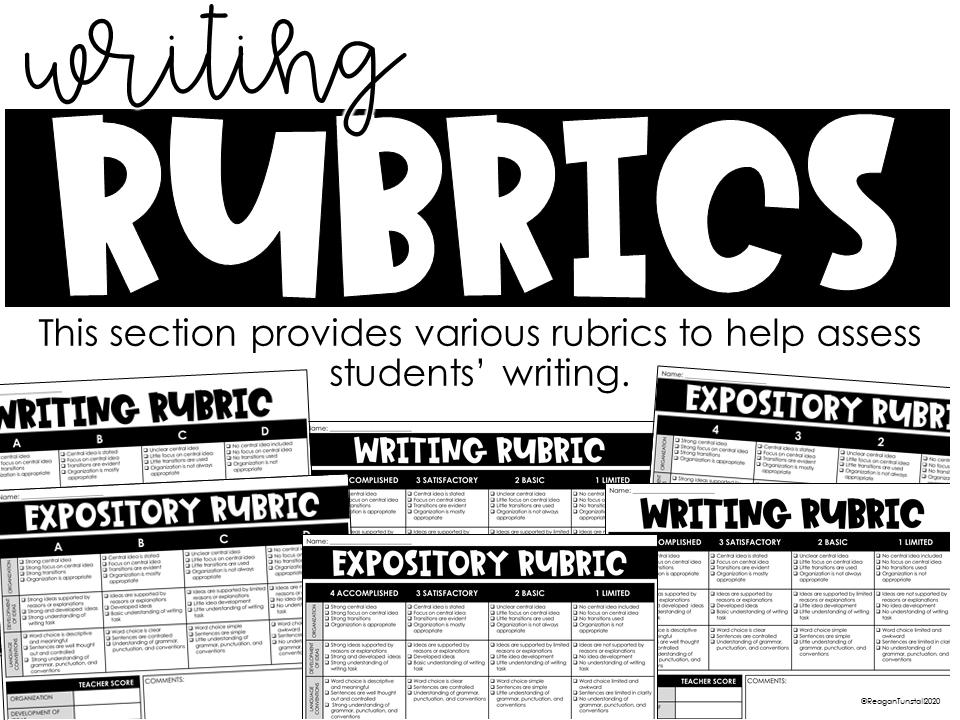 writing rubrics 3-5