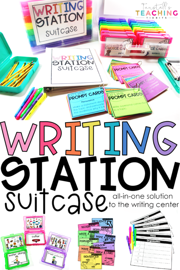 writing station suitcase k-2