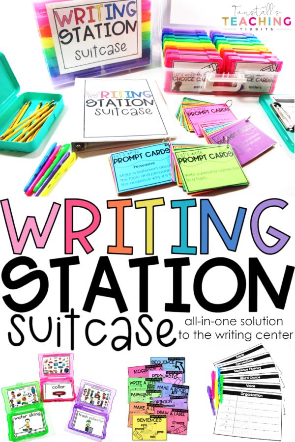 writing station suitcase k-2