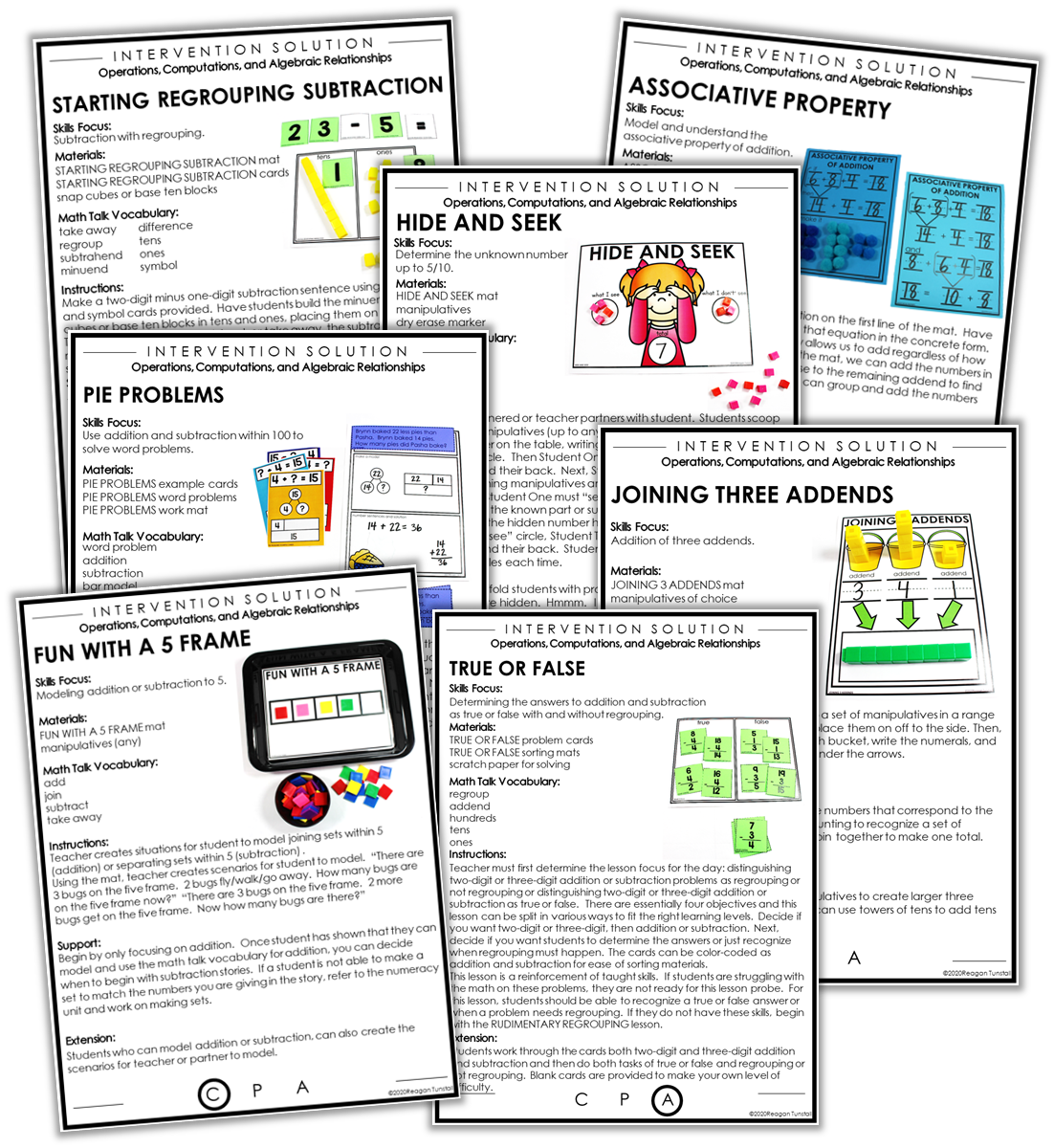 lesson instruction sheets