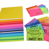 Colorful Student Welcome Postcards with Astrobrights paper