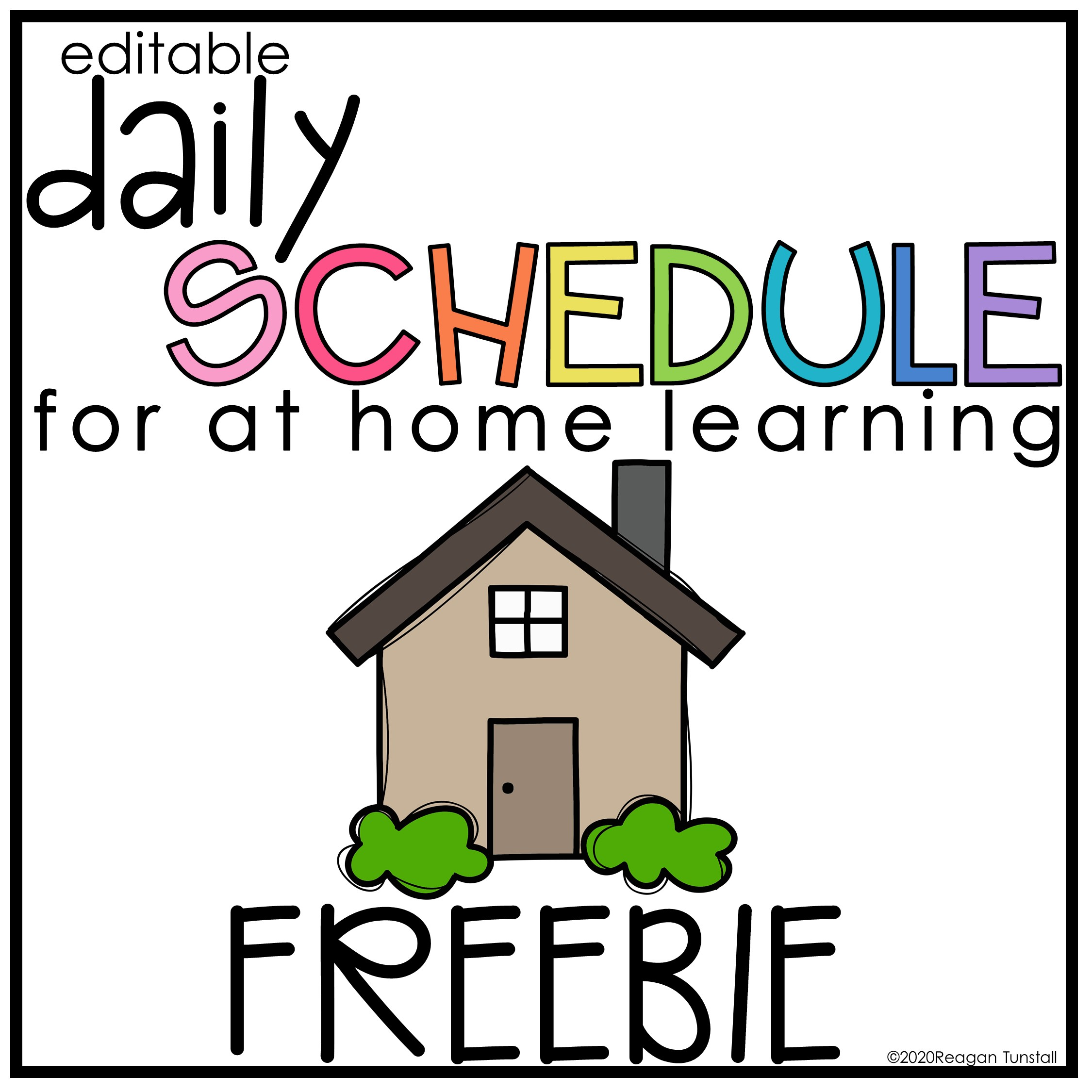 daily schedule freebie at home learning