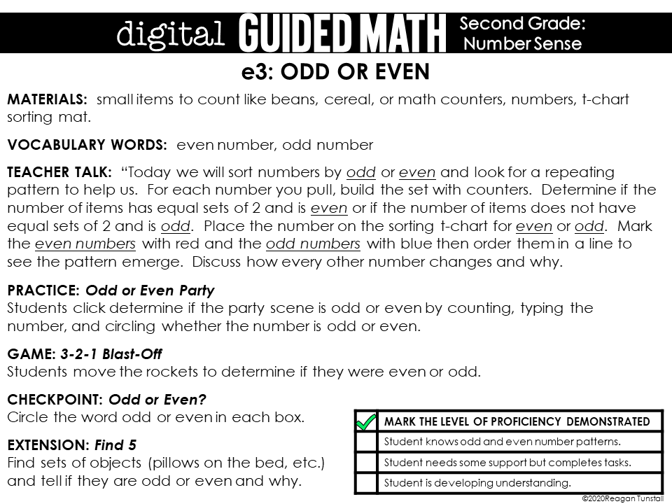 digital guided math distance learning second grade