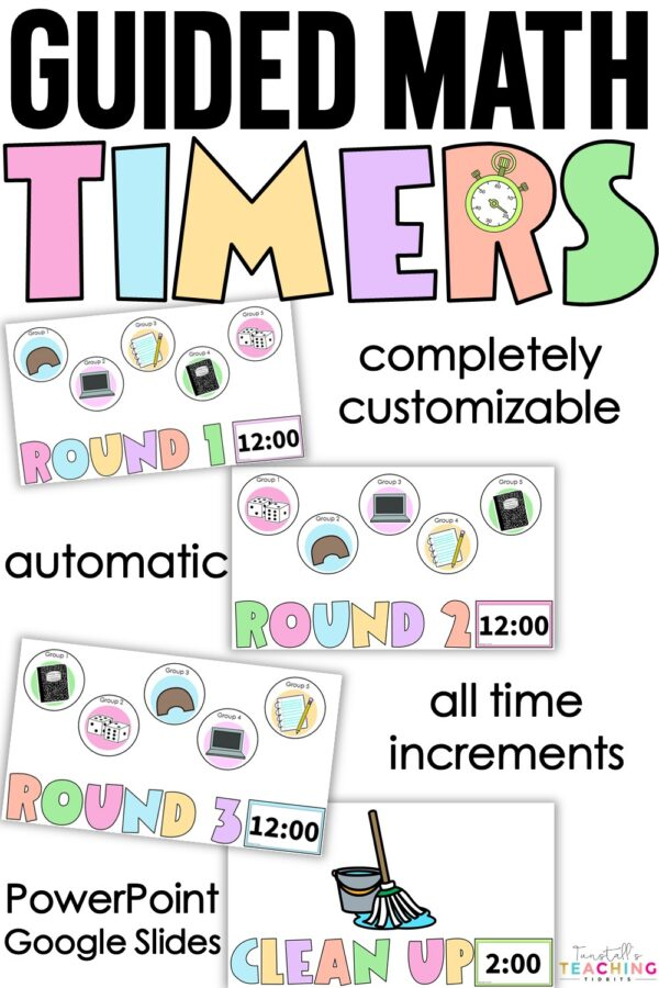 guided math workstation timers