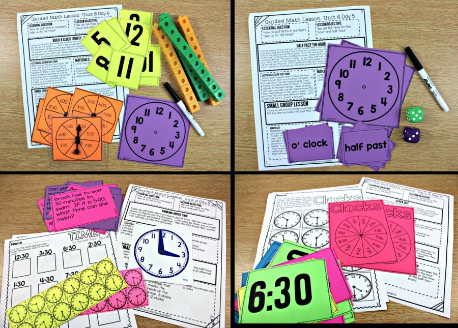 teaching time guided math