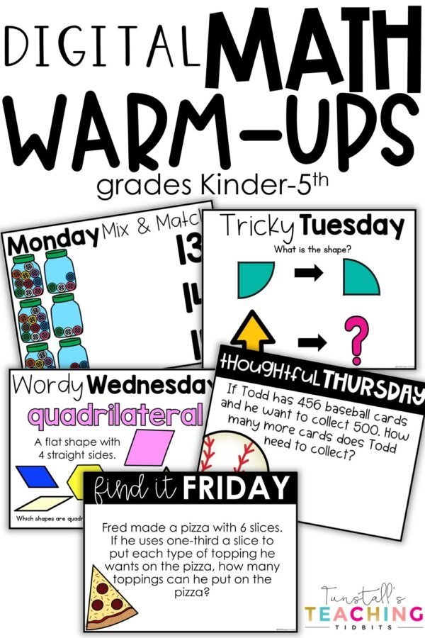 digital math warm ups