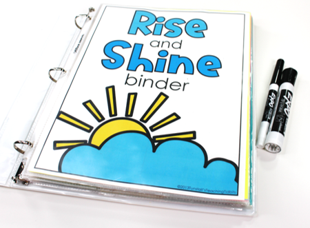 Rise and Shine Revisit, morning work binder.