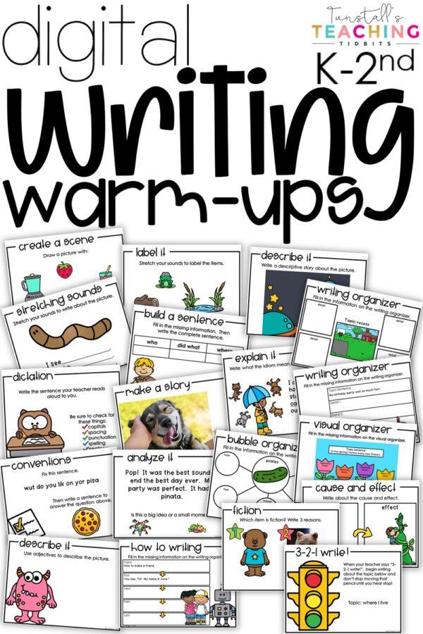 digital writing warm-ups