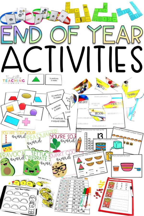 End of Year Activities Math Review