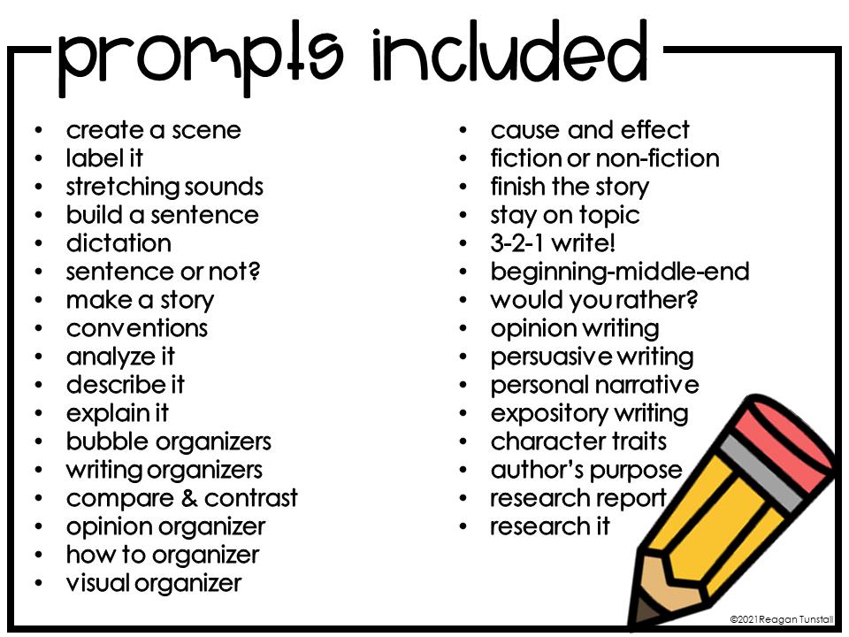 digital writing warm-ups prompts