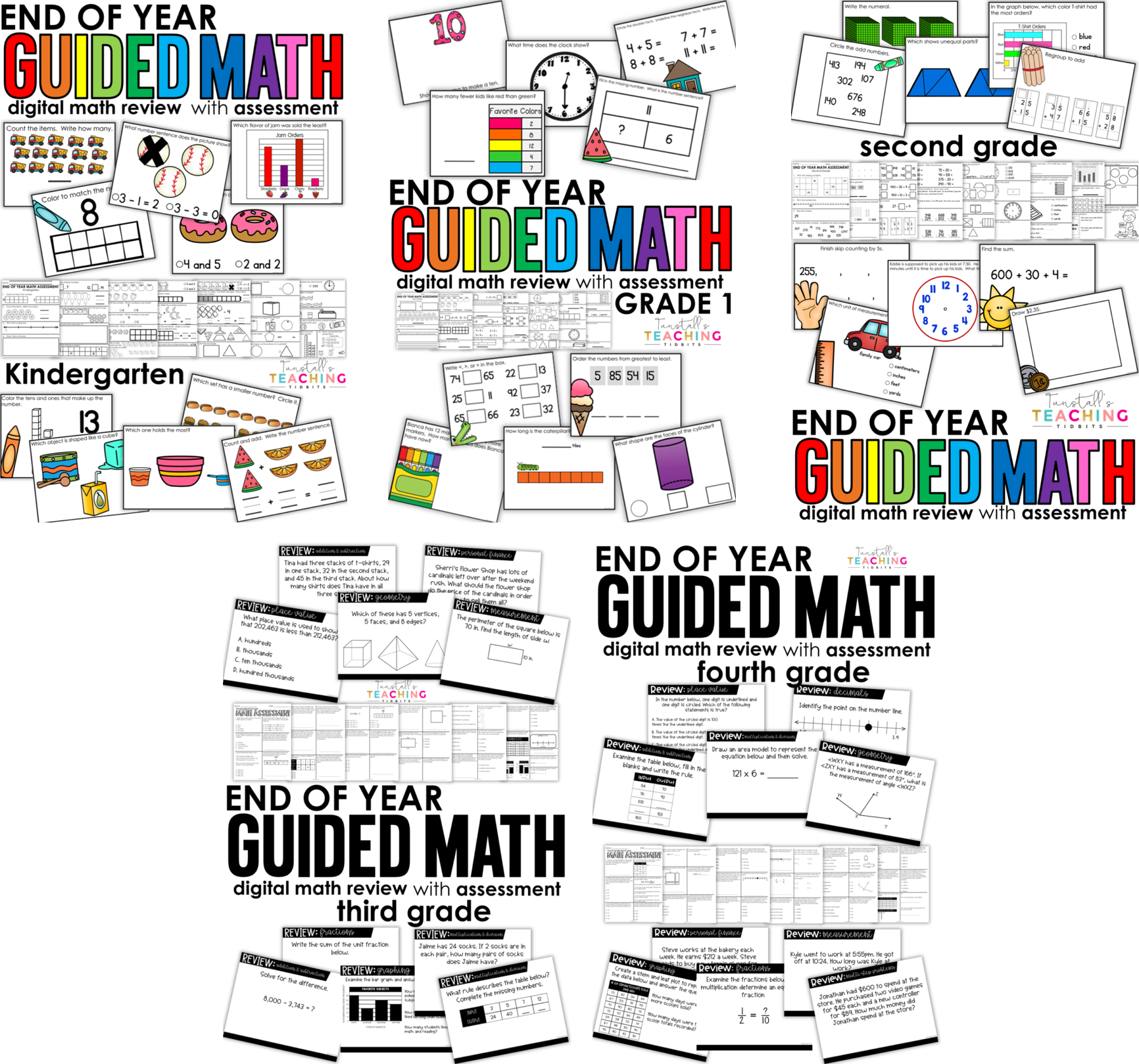 end of year review 10 math review resources