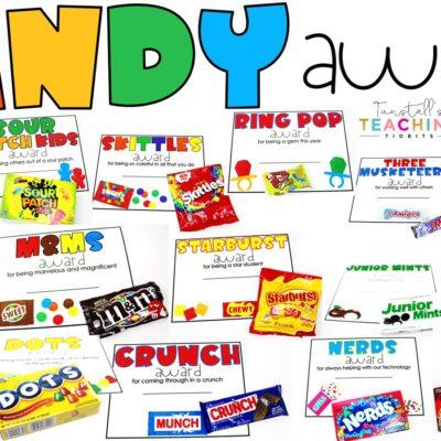 Editable Candy Awards