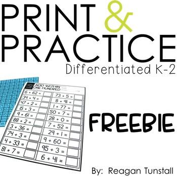 print and practice K-2 free