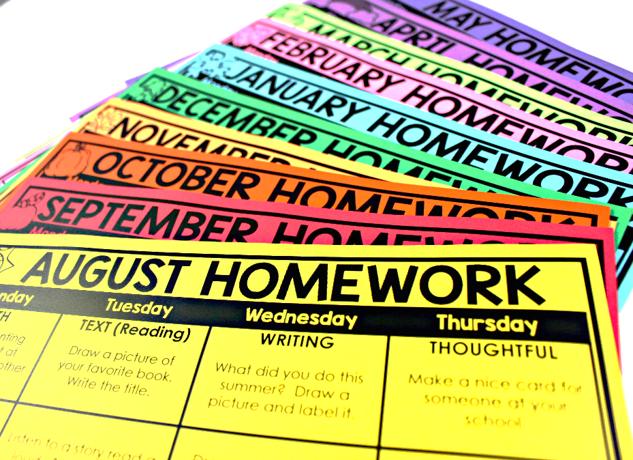 editable homework