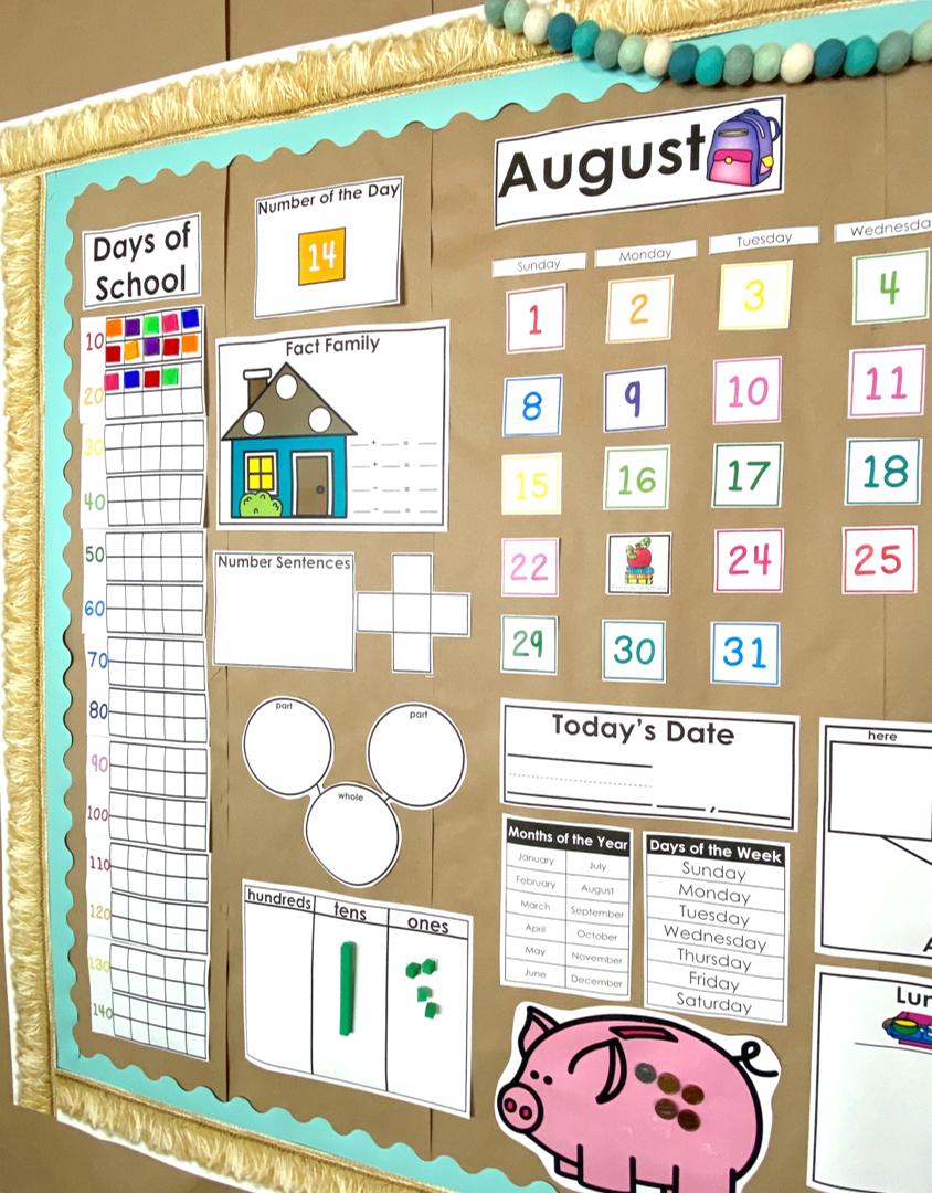 calendar math reference wall