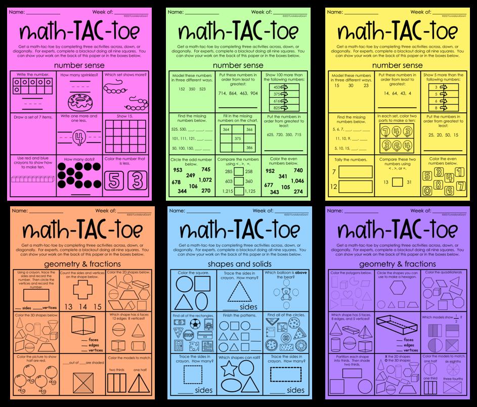 Math Tac Toe