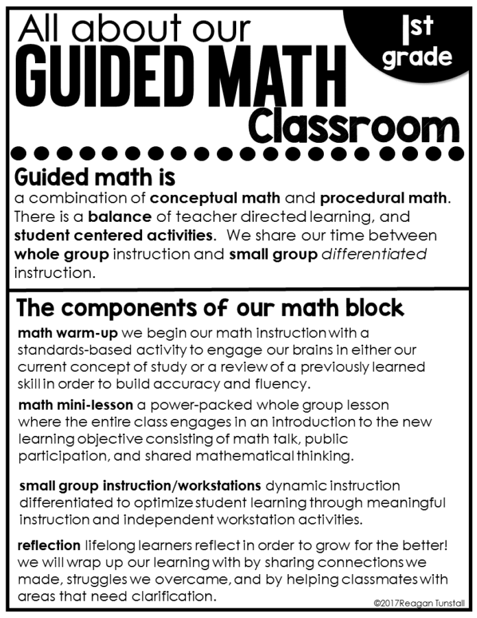 Guided Math Home Connection