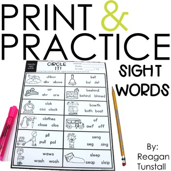 print and practice sight words