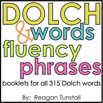 dolch words and fluency phrases