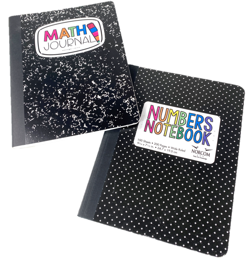 math journal or numbers notebook
